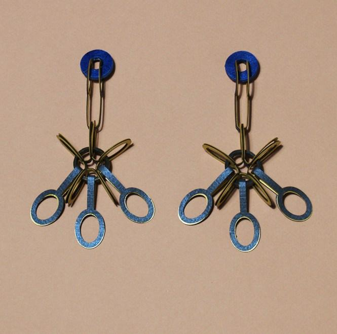 Earrings Blue flowers site3
